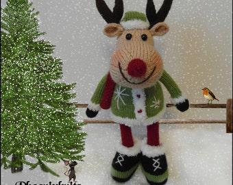 Rowan Reindeer Pattern Only Immediatedownload