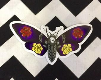 Death head moth sticker