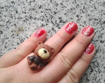 Teddy Bear Ring - Kawaii Disney, Sanrio style Bear Ring