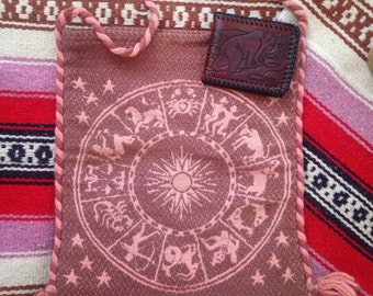 Astrological Hippie Bag with the Zodiac