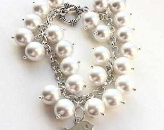 Pearl & Bird Bracelet