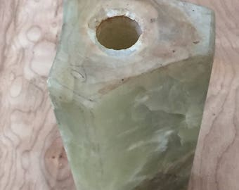 Vintage Stone Lamp Stem - Assemblage Altered Art Supply