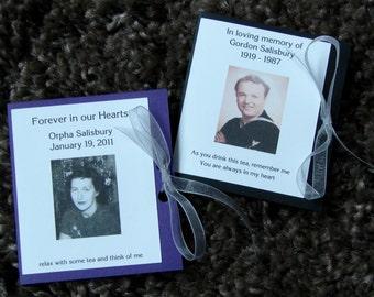 Customized Memorial Funeral Tribute Tea Bag Packet