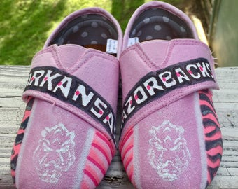 Pink Razorback shoes