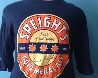 SALE Vintage Speights Brewing Ale Beer Tshirt