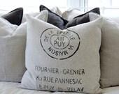 FRENCH Grain Sack Linen Pillow Cover European Cushion