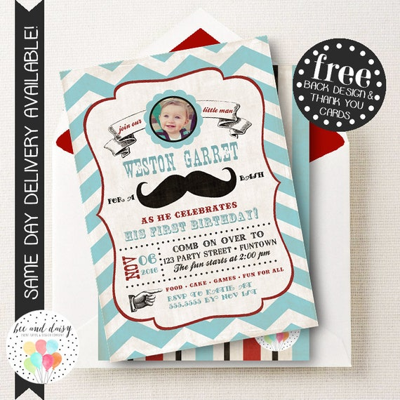 mustache birthday invitation mustache first birthday invitation
