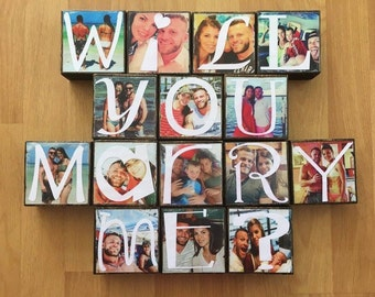 Will You Marry Me? Personalized photo blocks