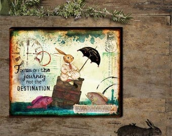 Focus On The Journey Not The Destination Hand - stretched Gallery Wrapped Canvas.