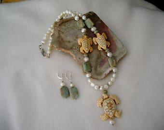 Turtles, Pearls, Peruvian Opal