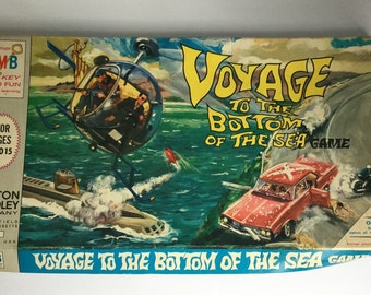 Vintage Board Game, Voyage to the Bottom of the Sea by Milton Bradley, Game Night, Retro Games, Game Room