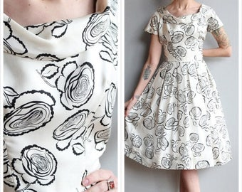 1950s Dress // Suzy Perette Silk Dress // vintage 50s dress