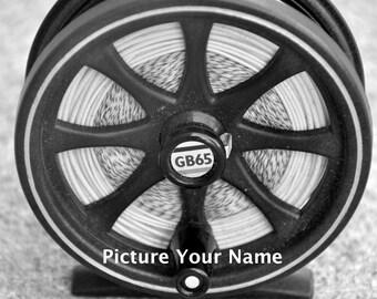 Fishing Theme, Letter O Alphabet Photography black & white 4x6 Photo Letter UNFRAMED