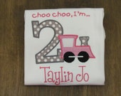 GIRLS Train Birthday Shirt, You Design