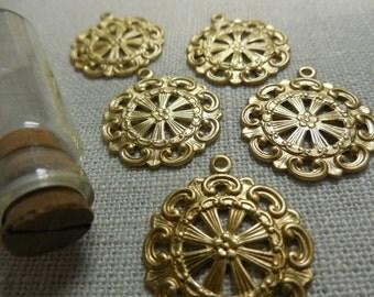 Round Brass Filigree