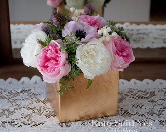 Wedding Centerpiece, Peony Centerpiece, Anemone Centerpiece, Floral Centerpiece, Silk Centerpiece