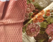 Bundle of Vintage French Fabric Soft Satins Silk Brocade Scraps Cutters Pack offcuts