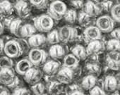 Japanese (TOHO) 8/0 Seed Bead, Trans-Lustered BLACK DIAMOND #112, black, gray, Kumihimo, Beadweaving, Beading, Jewelry