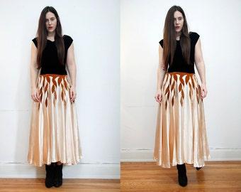 Vintage gold Velvet Gothic Maxi Dress 1930's Style