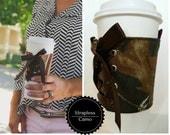Cup Corset - Strapless - Camoflauge - Camo - Reversible - Adjustable - Coffee Cozy - Cup Cozy -