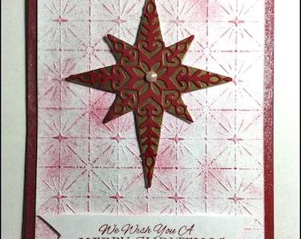 Merry Christmas - Christmas Holidays Handmade card