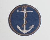 Miniature Round Rug Anchors Aweigh