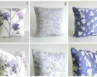 Purple Pillow Cover, Cushion Cover, Designer Pillow Sham, Floral Shams, Pillow Case, Throw Pillow Cover - Violet Collection