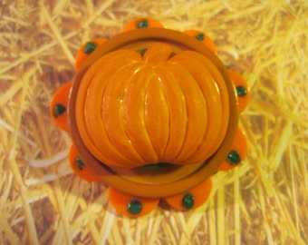 Seasonal Harvest Fall Pumpkin Pin Brooch