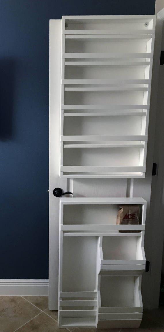 door mounted spice rack pantry door spice rack door spice. Black Bedroom Furniture Sets. Home Design Ideas