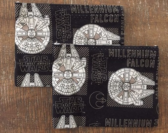 Star Wars Snack Bag, Party Favor Bag, Lunch Bag, Reusable Bag, Christmas Gift, Star Wars Gift, Millennium Falcon, Star Wars Stocking Stuffer