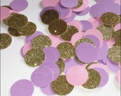 Girls Birthday Party Confetti In Lavender, Blush Pink, And Gold Glitter, Baby Shower Table Decorations, Unicorn Party, Sweet Shop Theme