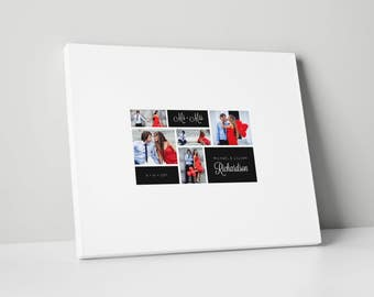 Photo Wedding Guest Book Canvas, Various Sizes, Wedding Guest Book, gb0079