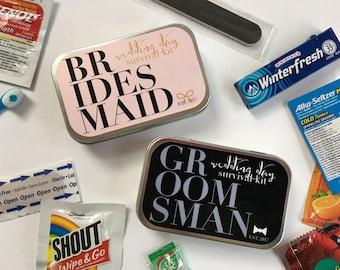 Bridesmaid Gift, Groomsman Gift, Wedding Party Gift, Groomsman Survival Kit, Bridesmaid Survival Kit, Wedding Survival Kit, Hangover Kit