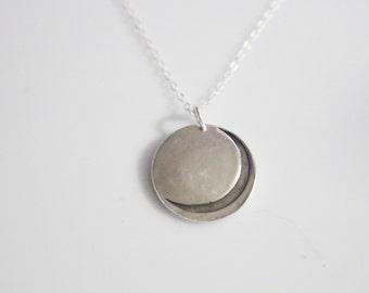 Gamma Phi Beta Crescent Moon Necklace in Silver // GPhiBeta Moon logo / Senior Gifts / Bid day Gifts / Bulk Discount Available