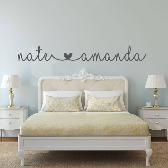 Name Decal Name Stickers Bedroom Wall Decal Bedroom