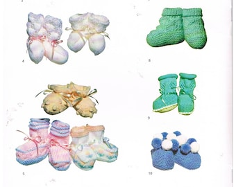 Bootee and Sock Patterns by Patons in 3,4 &5 Ply Yarns/C45
