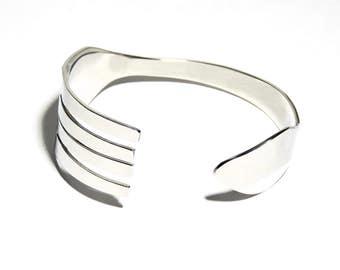 Fork Bracelet, Stainless Steel, Women, Men, Mirror Finish, BLB 13