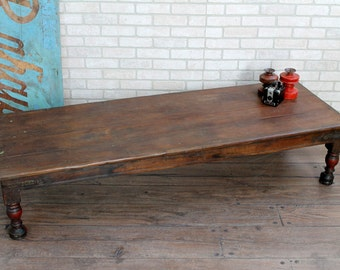 Coffee Table Vintage Indian Table Furniture Boho Global Rustic Modern Reclaimed Table Moroccan Decor Turkish Interior