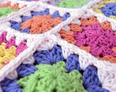 RESERVED - Custom Order - Colorful Granny Square Baby Afghan Blanket - Baby Shower Gift