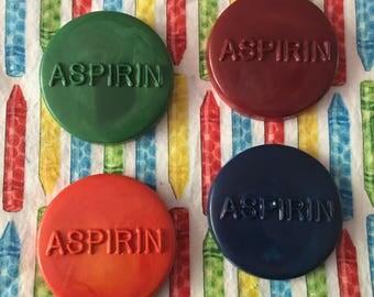 Aspirin crayons. Adult crayons. Prank crayons. Over the hill crayons.