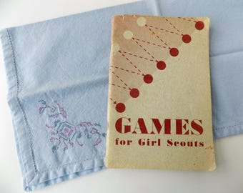 1949 Games for Girl Scouts Book. Girl Scouts of the United States of America. Scouting Memorabilia. Vintage Americana. Children's Book.