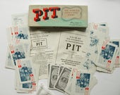 Vintage Pit Card Game Bull Bear Stock Market Trading 1919 Parker Brothers French & English Instructions Complete Canada Collett-Sproule Nice