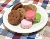 PDF pattern - Cookies and Macaroons Pattern and Instructions - felt play food sewing pattern
