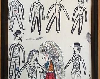 7 Men arguing over 1 Woman by Mr John Henry Toney 2002