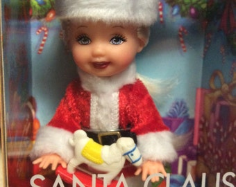 Santa Claus Kelly Doll in Box Christmas Gift for Girl Child Toy