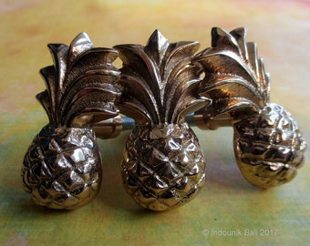 Pineapple Small Brass Drawer Pull or Cabinet Knob 44mm 1pc
