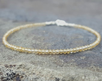 Citrine Bracelet Citrine Bracelets November Birthstone Bracelet Citrine Beaded Bracelets Best Friend Gift for Women Citrine Bead Bracelet