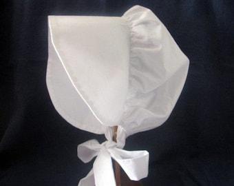 Prairie bonnet,  3 to 6 years, white, pioneer, frontier,  Little girls