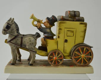 Goebel Hummel The Mail is Here 1952 Stagecoach with Horses and Boy Trumpet