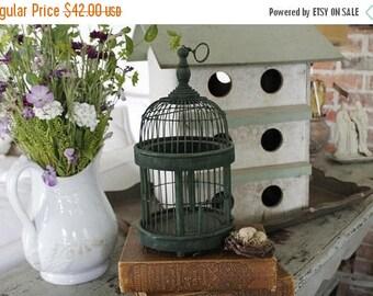 SHOP SALE Vintage Petite Wire Bird Cage